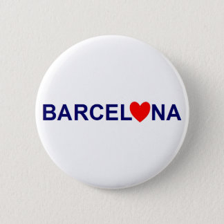 Badge Rond 5 Cm Barcelona love