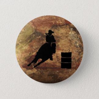Badge Rond 5 Cm Baril emballant la silhouette de fille sur une