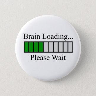 Badge Rond 5 Cm Barre de chargement de cerveau