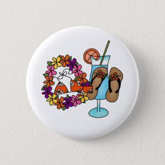 Badge Rond 5 Cm Bascules électroniques tropicales de filles trois