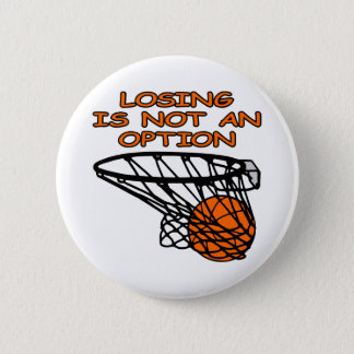 Badge Rond 5 Cm Basket-ball blanc perdant pas l'option