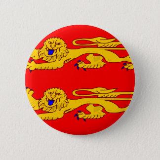 Badge Rond 5 Cm Basse Normandie, drapeau de la France