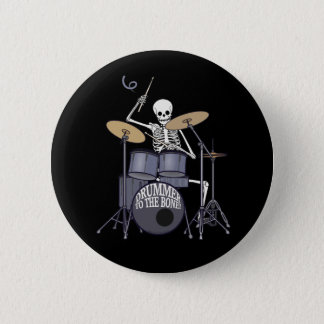 Badge Rond 5 Cm Batteur squelettique