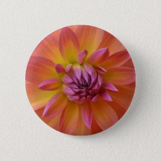 Badge Rond 5 Cm Beau dahlia d'Ombre