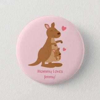 Badge Rond 5 Cm Bébé mignon Joey de kangourou pour des enfants
