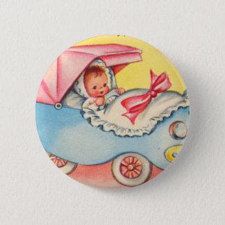 Badge Rond 5 Cm Bébé vintage le nouveau modèle ! Maintenant sur