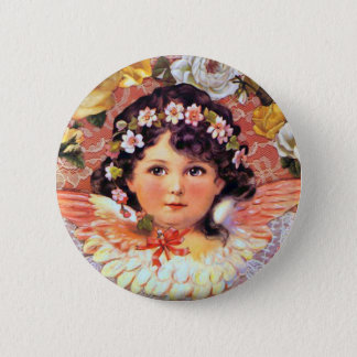 Badge Rond 5 Cm Bel enfant d'ange