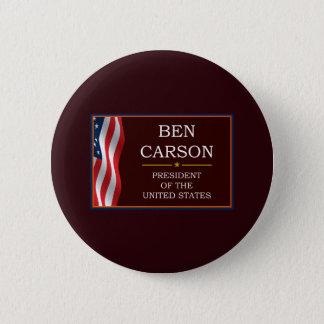 Badge Rond 5 Cm Ben Carson pour le Président V3