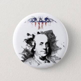 Badge Rond 5 Cm Benjamin Franklin