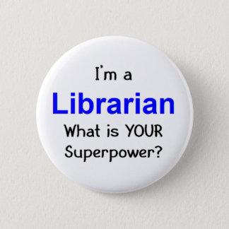 Badge Rond 5 Cm Bibliothécaire