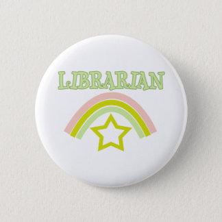 Badge Rond 5 Cm Bibliothécaire d'arc-en-ciel