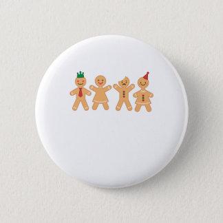 Badge Rond 5 Cm Biscuit drôle Emoji de bonhomme en pain d'épice