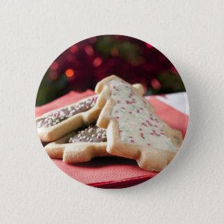 Badge Rond 5 Cm Biscuits de Noël