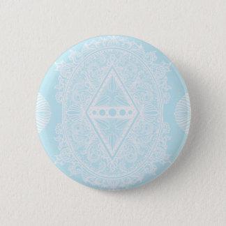 Badge Rond 5 Cm Bleu-clair, âge du réveil, bohémien, newage