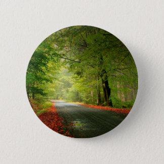 Badge Rond 5 Cm Bois de printemps de route de nature