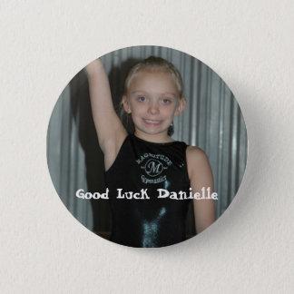 Badge Rond 5 Cm Bonne chance Danielle