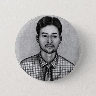 Badge Rond 5 Cm Borne 1 d'autoportrait par Vannak Anan Prum