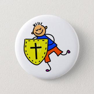 Badge Rond 5 Cm Bouclier d'enfant de foi