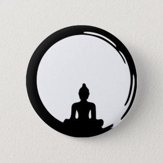 Badge Rond 5 Cm Bouddha silent