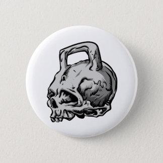 Badge Rond 5 Cm Bouilloire de crâne