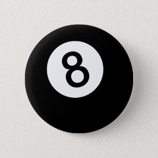 Badge Rond 5 Cm Boule 8 ou boule noire
