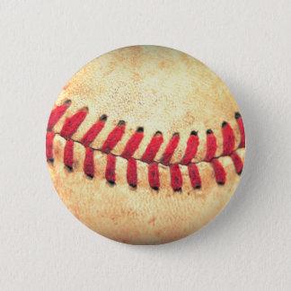 Badge Rond 5 Cm Boule vintage de base-ball