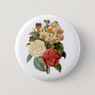 Badge Rond 5 Cm Bouquet vintage de mariage, fleurs de floraison