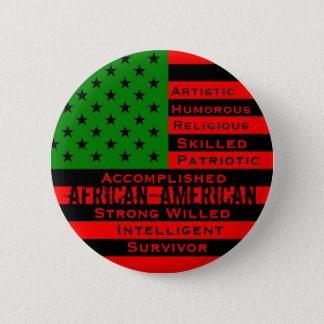 Badge Rond 5 Cm Bouton afro-américain