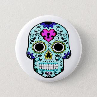 Badge Rond 5 Cm bouton au néon audacieux de crâne de sucre