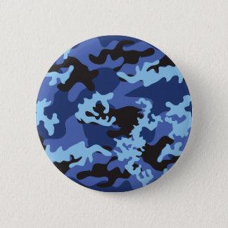 Badge Rond 5 Cm Bouton bleu fait sur commande de Camo
