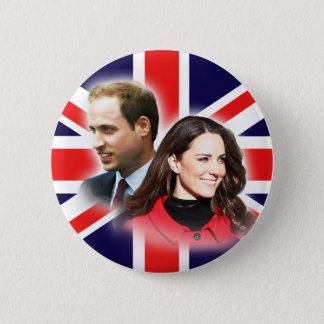 Badge Rond 5 Cm Bouton britannique de drapeau de William et de