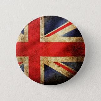 Badge Rond 5 Cm Bouton britannique grunge de drapeau
