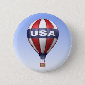 Badge Rond 5 Cm Bouton chaud de ballon à air des Etats-Unis