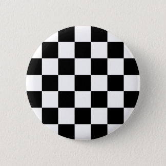 Badge Rond 5 Cm Bouton Checkered de Ska de deux tons