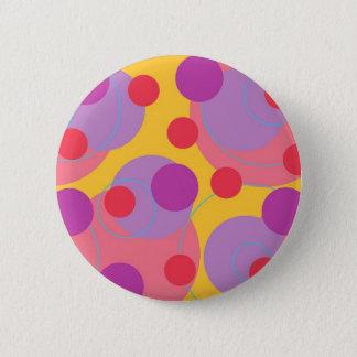 Badge Rond 5 Cm Bouton coloré de rétros de Blackberry points