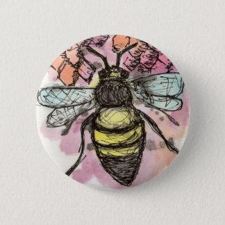 Badge Rond 5 Cm Bouton d'abeille