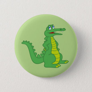 Badge Rond 5 Cm Bouton d'alligator