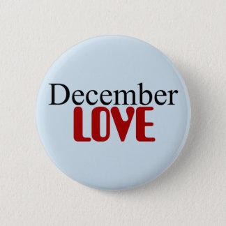 Badge Rond 5 Cm Bouton d'amour de décembre
