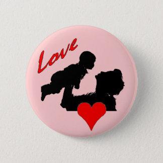 Badge Rond 5 Cm Bouton d'amour de mères