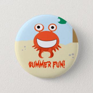 Badge Rond 5 Cm bouton d'amusement d'été