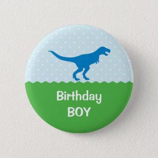 Badge Rond 5 Cm Bouton d'anniversaire de dinosaure