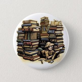 Badge Rond 5 Cm Bouton d'archéologue de livre