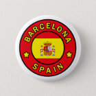 Badge Rond 5 Cm Bouton de Barcelone Espagne