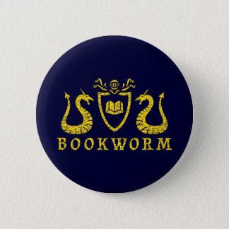 Badge Rond 5 Cm Bouton de blason de rat de bibliothèque