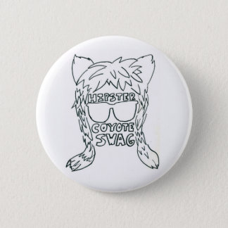 Badge Rond 5 Cm Bouton de butin de coyote