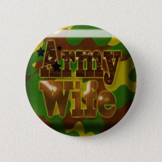 Badge Rond 5 Cm Bouton de camouflage d'épouse d'armée