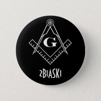 Badge Rond 5 Cm Bouton de carré et de boussole