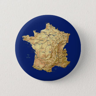 Badge Rond 5 Cm Bouton de carte de la France