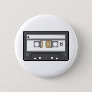 Badge Rond 5 Cm Bouton de cassette audio