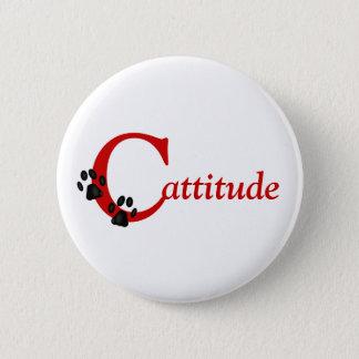 Badge Rond 5 Cm Bouton de Cattitude de pattes de Kitty